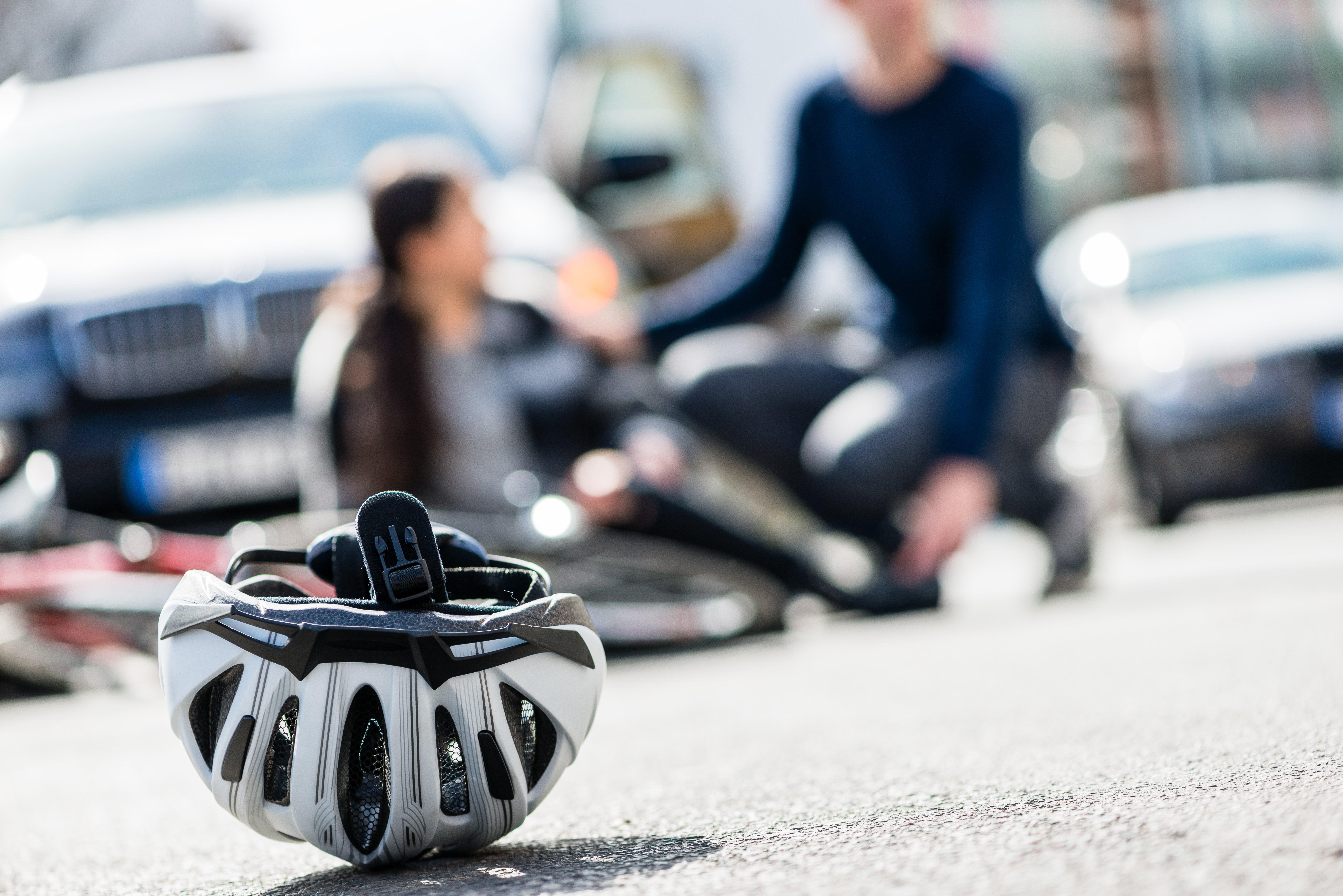 car hite bike rider