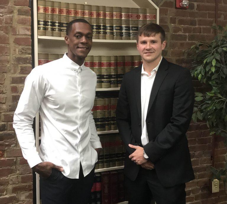 Attorney Zach Berry and NBA star Rajon Rondo